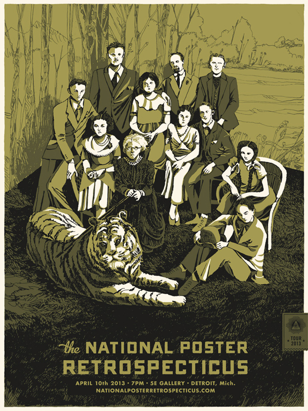 National-Poster-Retrospecticus-Detroit-Landland